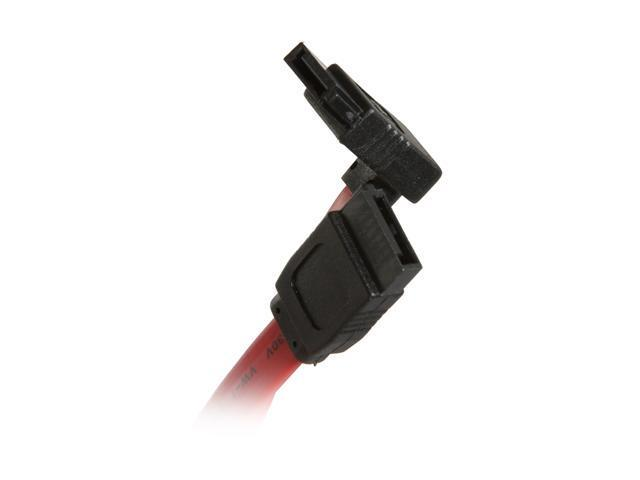 "Link Depot SATA-18-RS 18"" SATA II Cable with Straight to Right-Angle Connectors"