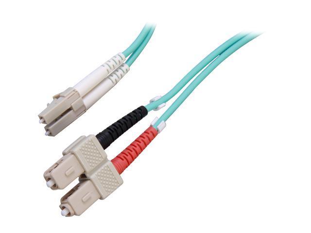 Link Depot FOM5A-LCSC-2 6.6 ft. (2m) 10 Gb Multimode 50/125 Duplex LSZH LC - SC Fiber Patch Cable M-M