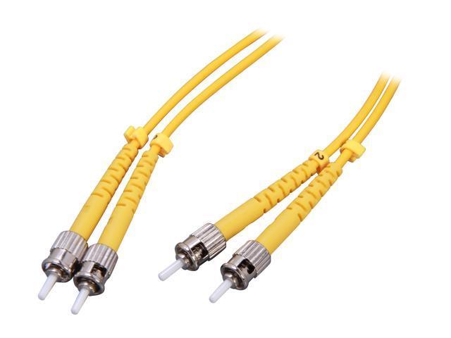 Link Depot FOS9-STST-2 6.56 ft. (2m) Single Mode Duplex Fiber Patch Cable ST - ST