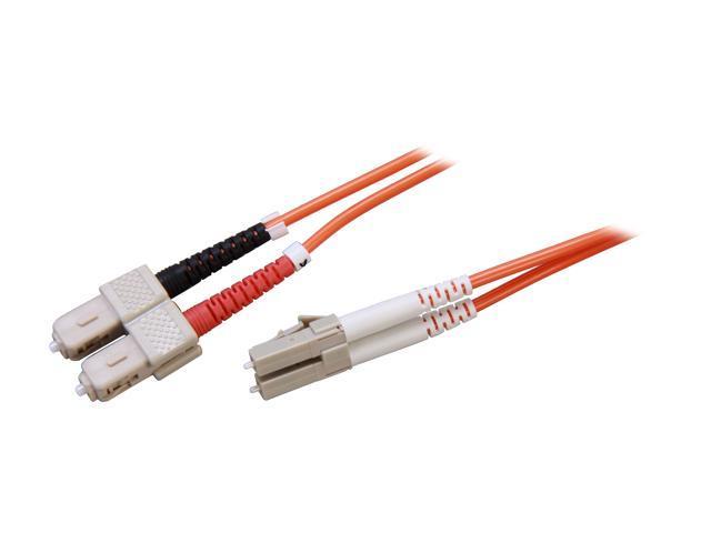 Link Depot FOM6-LCSC-3 9.84 ft. (3m) Multimode 62.5/125 Duplex Fiber Patch Cable LC - SC