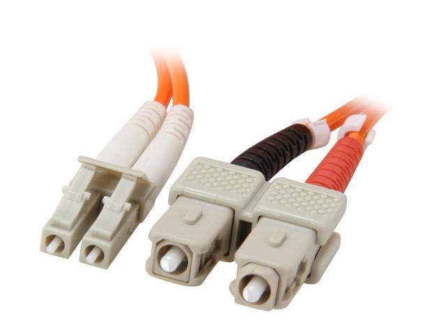 Link Depot FOM6-LCSC-10 32.81 ft. (10m) Multimode 62.5/125 Duplex Fiber Patch Cable LC - SC