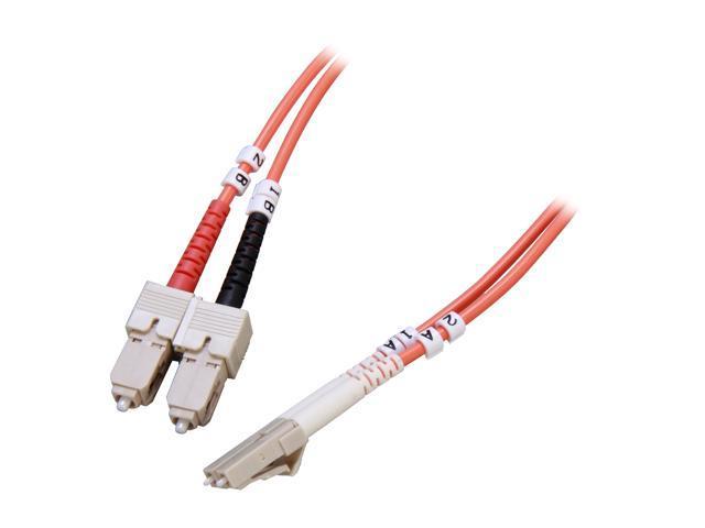 Link Depot FOM6-LCSC-15 49.21ft. (15m) Multimode 62.5/125 Duplex Fiber Patch Cable LC - SC