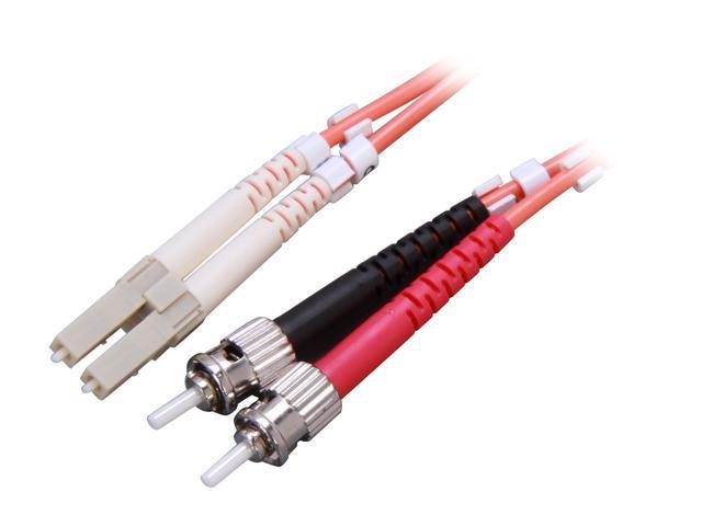 Link Depot FOM6-LCST-15 49.21ft. (15m) Multimode 62.5/125 Duplex Fiber Patch Cable LC - ST