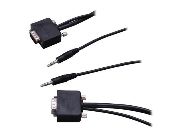 Link Depot SVGA-25-SA 25 ft. Slim VGA Plus Stereo HD15 Cable