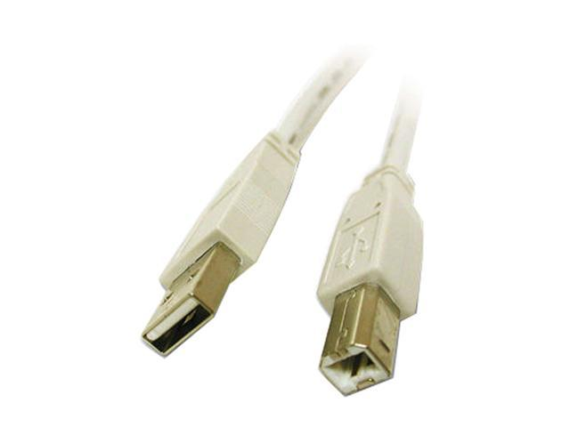 Cables To Go 13400 9.84 ft. White USB 2.0 A/B Cable