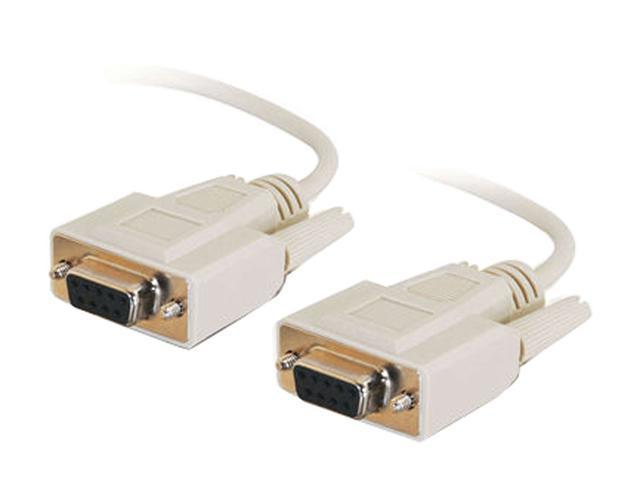 Cables To Go Model 03044 6 ft. DB9 F/F Null Modem Cable - Beige F-F