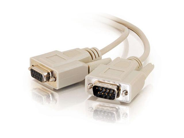 Cables To Go Model 09453 50 ft. DB9 M/F Extension Cable - Beige M-F