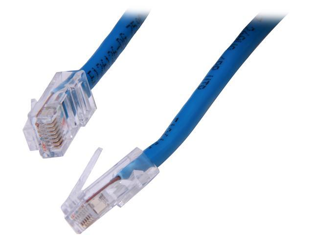 C2G 22685 7 ft. Cat 5E Blue Cat5E 350 MHz Assembled M-M Patch Cable - Blue