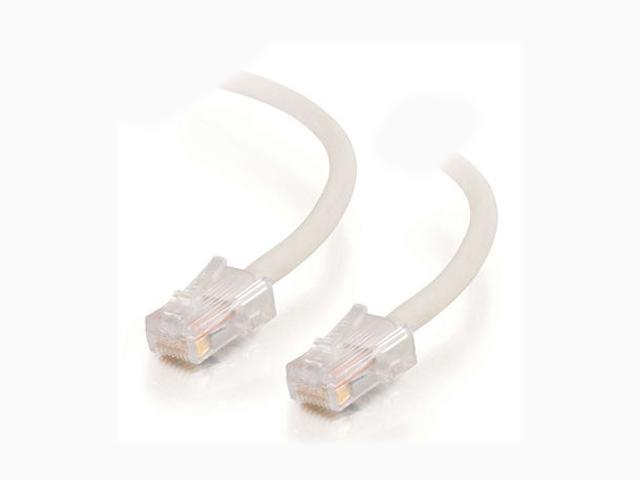 C2G 25237 14 ft. Cat 5E White Cat5E 350MHz Assembled M-M Patch Cable - White