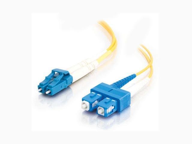 C2G 26260 2m LC/SC Duplex 9/125 Single Mode Fiber Patch Cable - Yellow