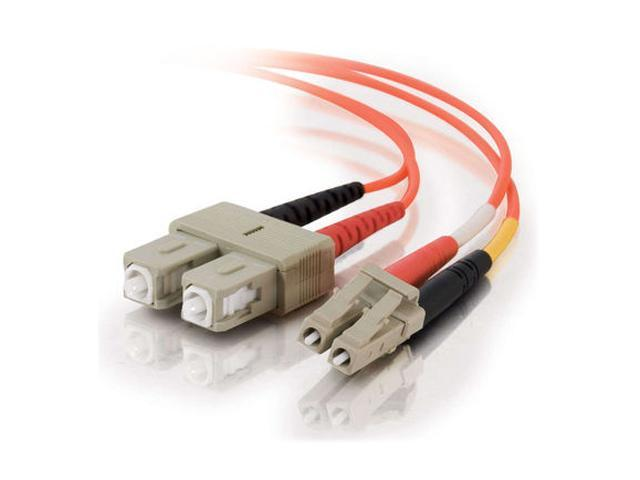 Cables To Go 33155 6.56 ft. LC/SC Duplex 62.5/125 Multimode Fiber Patch Cable - Orange M-M
