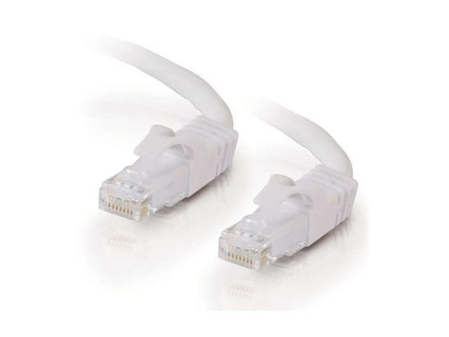 C2G 27165 25ft Cat6 550MHz Snagless Patch Cable - White