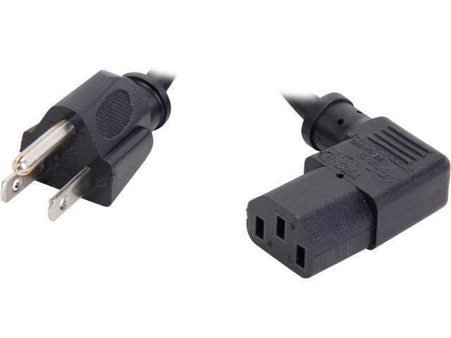 Cables To Go Model 03152 6 ft 18 AWG Universal Right Angle Power Cord (NEMA 5-15P to IEC320C13R)