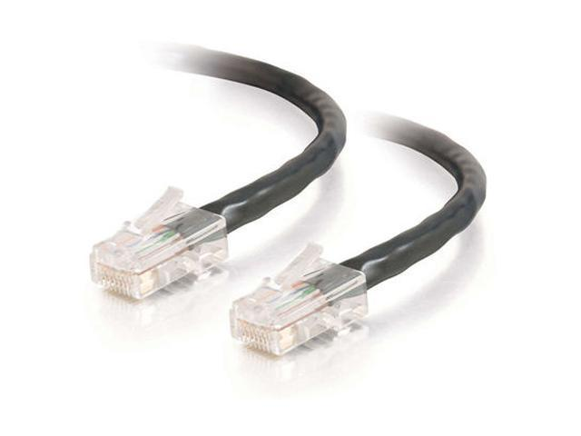 C2G 24508 7 ft. Cat 5E (Crossover) Black 350 MHz Patch Cable