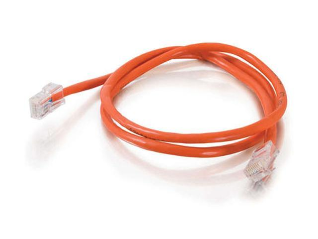 C2G 24513 10 ft. Cat 5E Orange 350 MHz Crossover Patch Cable
