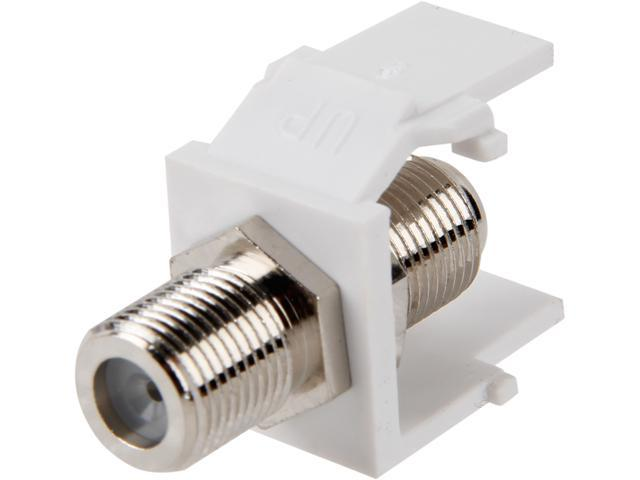 C2G 03824 Snap-In F-Type F/F Keystone Insert Module - White