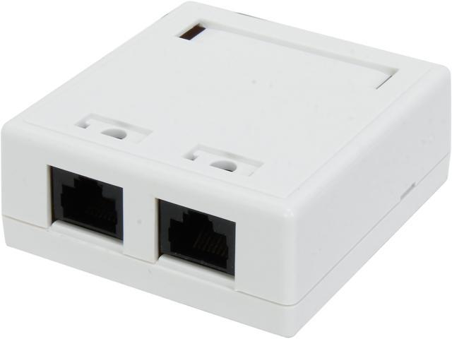 C2G 03837 2 Socket Cat 5e Surface Mounting Box