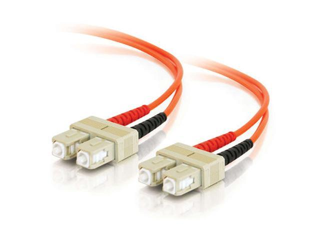 C2G 09114 2m SC/SC Duplex 62.5/125 Multimode Fiber Patch Cable - Orange