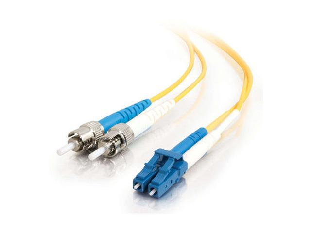 C2G 37475 2m LC/ST Duplex 9/125 Single Mode Fiber Patch Cable - Yellow