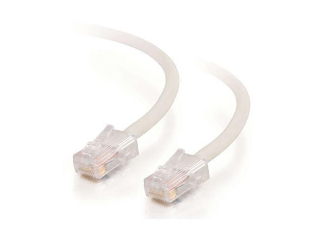 C2G 27097 35 ft. Cat 5E White Assembled Patch Cable