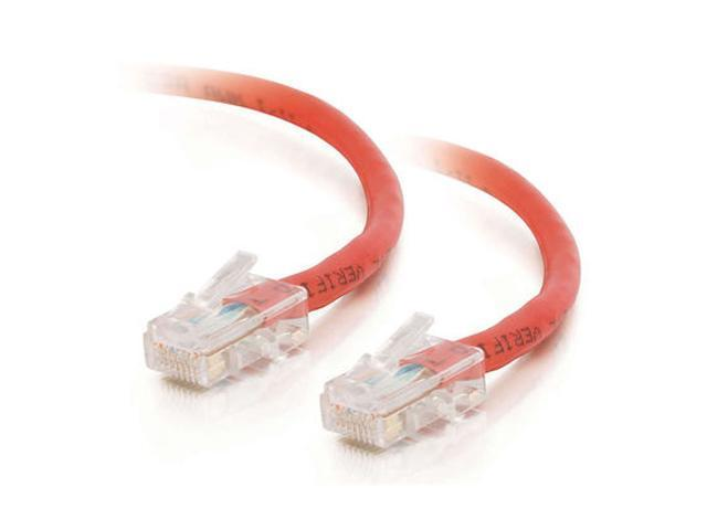 C2G 24396 50 ft. Cat 5E Red Cat5E 350 MHz Assembled Patch Cable