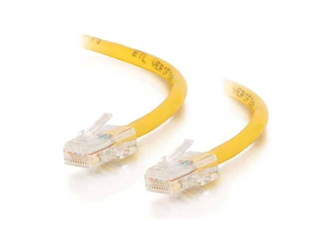 C2G 22706 25ft Cat5E 350 MHz Assembled Patch Cable - Yellow
