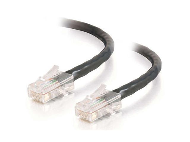 C2G 25040 35 ft. Cat 5E Black 350 MHz Assembled Patch Cable