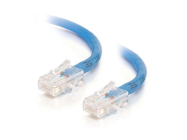 C2G 25462 1ft Cat5E 350 MHz Assembled Patch Cable - Blue