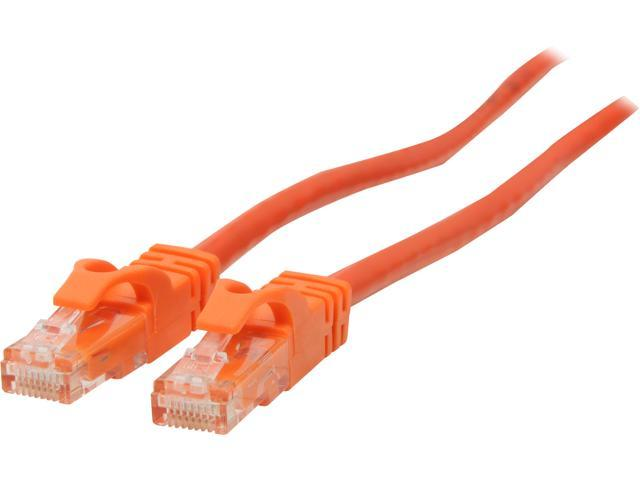 C2G 27816 50 ft. Cat 6 Orange 550 MHz Snagless Patch Cable
