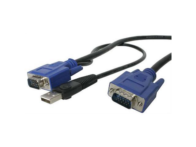 StarTech 15ft. Ultra-Thin USB 3-in-1 KVM Cable SVECONUS15