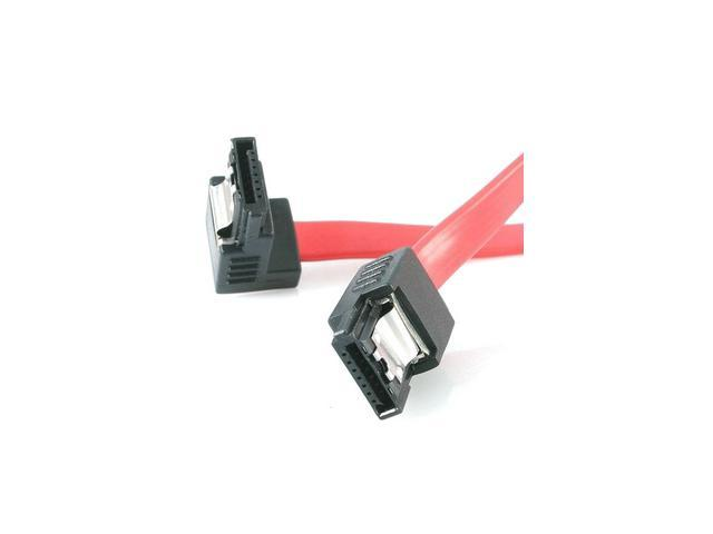 "StarTech LSATA18RA1 18"" Latching SATA Cable M/M 1 Right Angle"
