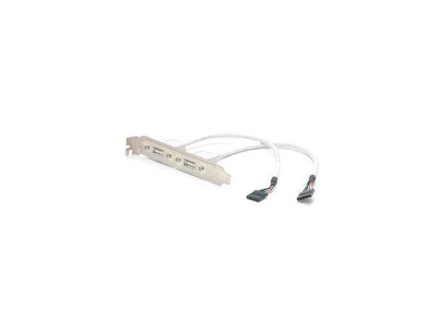StarTech USBPLATE 2-Port USB A Female Slot Plate Adapter