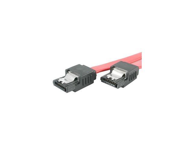 "StarTech LSATA12 12"" Latching SATA Cable - Straight M/M"