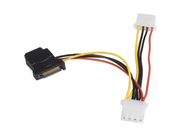 StarTech LP4SATAFM2L 6 in [153 mm] SATA to LP4 Power Cable Adapter with 2 Additional LP4 - F/M