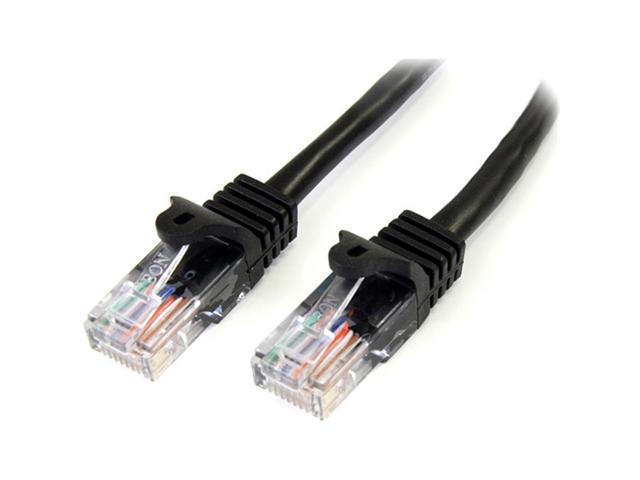 StarTech 45PATCH15BK 15 ft. Cat 5E Black Cat5e Snagless Patch Cable