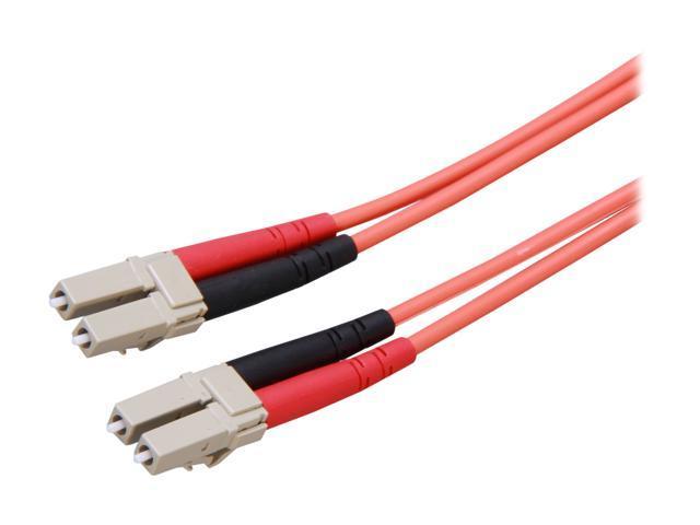 StarTech 50FIBLCLC3 9.98 ft. Multimode 50/125 Duplex Fiber Patch Cable LC - LC