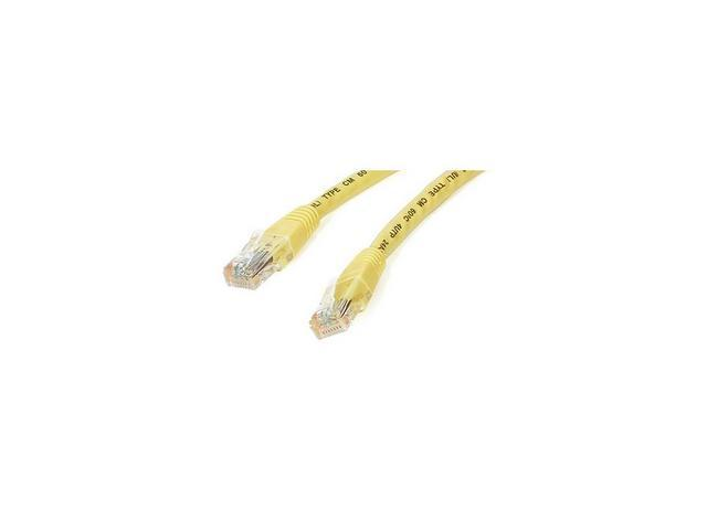 StarTech C6PATCH1YL 1 ft. Cat 6 Yellow Molded Patch Cable