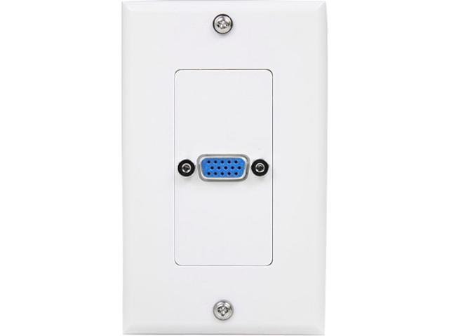 StarTech VGAPLATE Single Outlet 15-Pin Female VGA Wall Plate - White