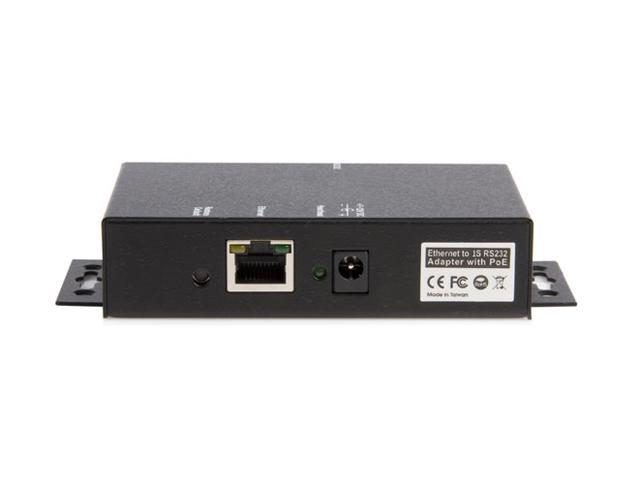 StarTech NETRS2321POE 1 Port RS232 Serial Ethernet Device Server - PoE Power Over Ethernet
