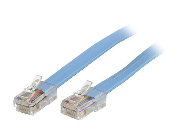 StarTech ROLLOVERMM6 6 ft. Blue Cisco Console Rollover Cable