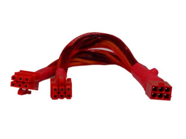 "APEVIA CVTPCI12 9"" 6 pin PCI Express Power Splitter"