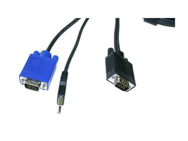 LINKSKEY 10 ft. USB-VGA KVM Combo Cable C-KVM-SU10 - OEM