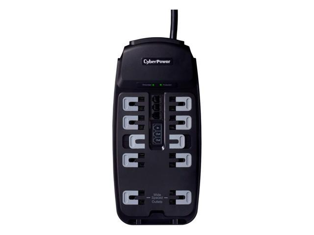 CyberPower CSP1008T 8 Feet 10 Outlets 2850 joule Surge Suppressor