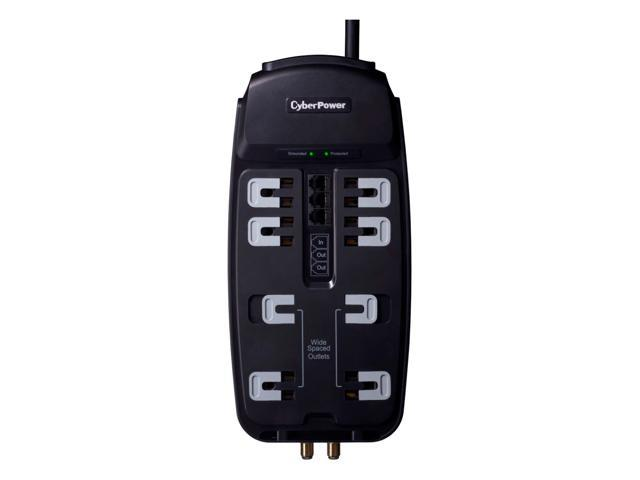 CyberPower CSHT808TC 8 Feet 8 Outlets 2850 joule Surge Suppressor
