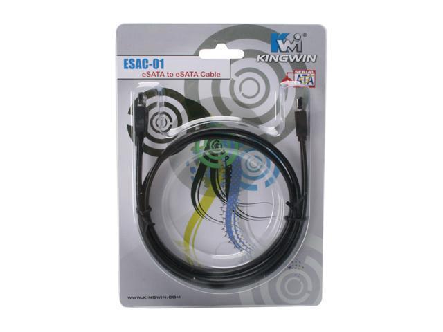 KINGWIN ESAC-01 3.28 ft. eSATA to eSATA Cable