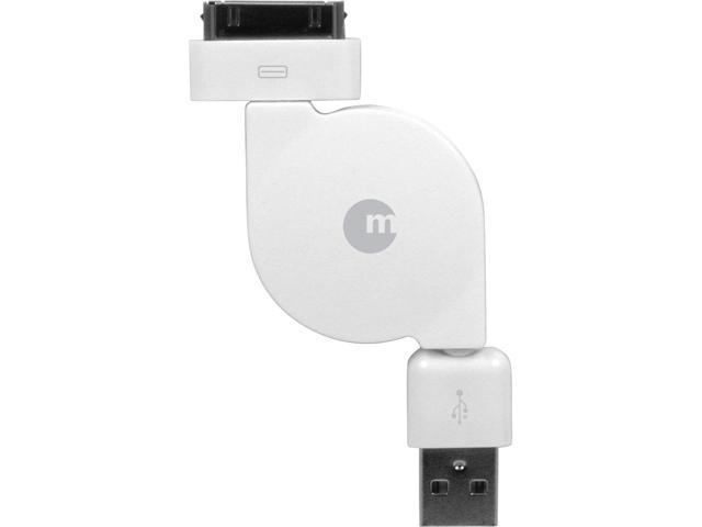 Macally 1.5 ft. Retractable USB to 30 pin Cable for iPhone & iPad Model RESYNCCABLE