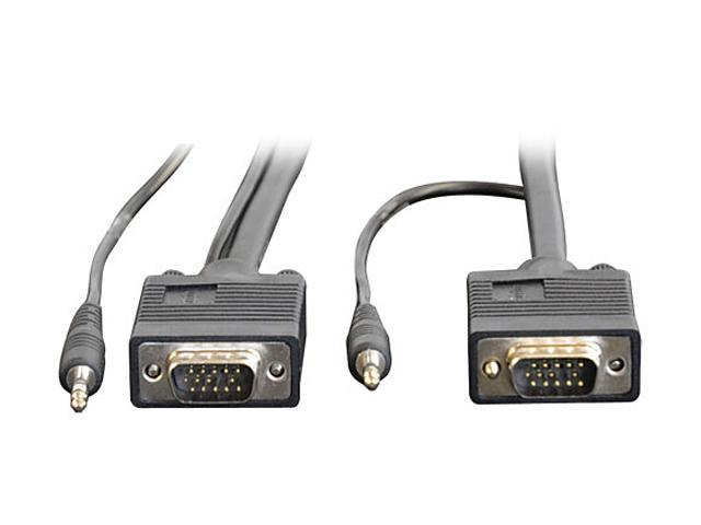 Tripp Lite P504-015 15 ft. HD15M to HD15M SVGA/VGA Monitor Cable w/Built-in Audio connectors