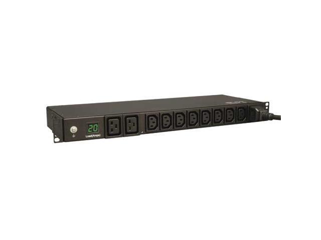 Tripp Lite PDUMH20HV Single-Phase PDU Metered 200-240V 20A 8 C13; 2 C19 Outlet L6-20P 1U RM