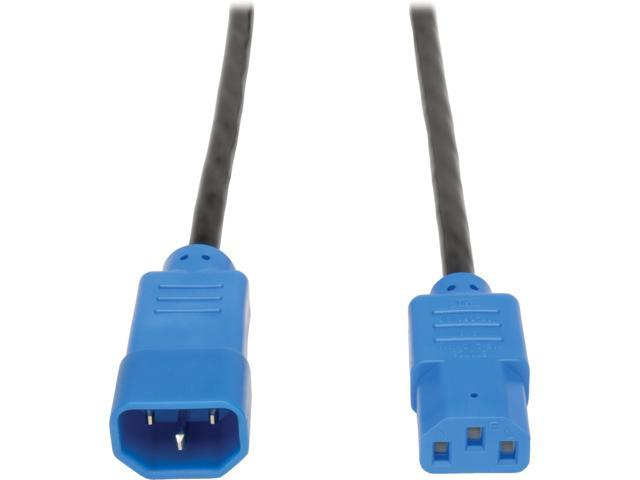 Tripp Lite 4-ft. 18 AWG Power Cord (IEC-320-C14 to IEC-320-C13) with Blue Connectors