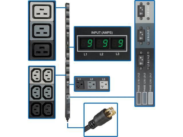 Tripp Lite Metered PDU3MV6L2130 48-Outlets 8.6kW PDU